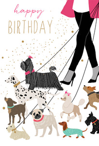 Birthday Card Dog walk Sara miller