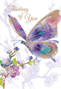 Friendship Card Butterfly Thinking
