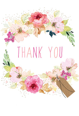 Thank You Card Flower Frame Sara Miller