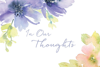 Comfort and Care Card In Our Thoughts