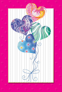 Birthday Card Heart Balloons Jane