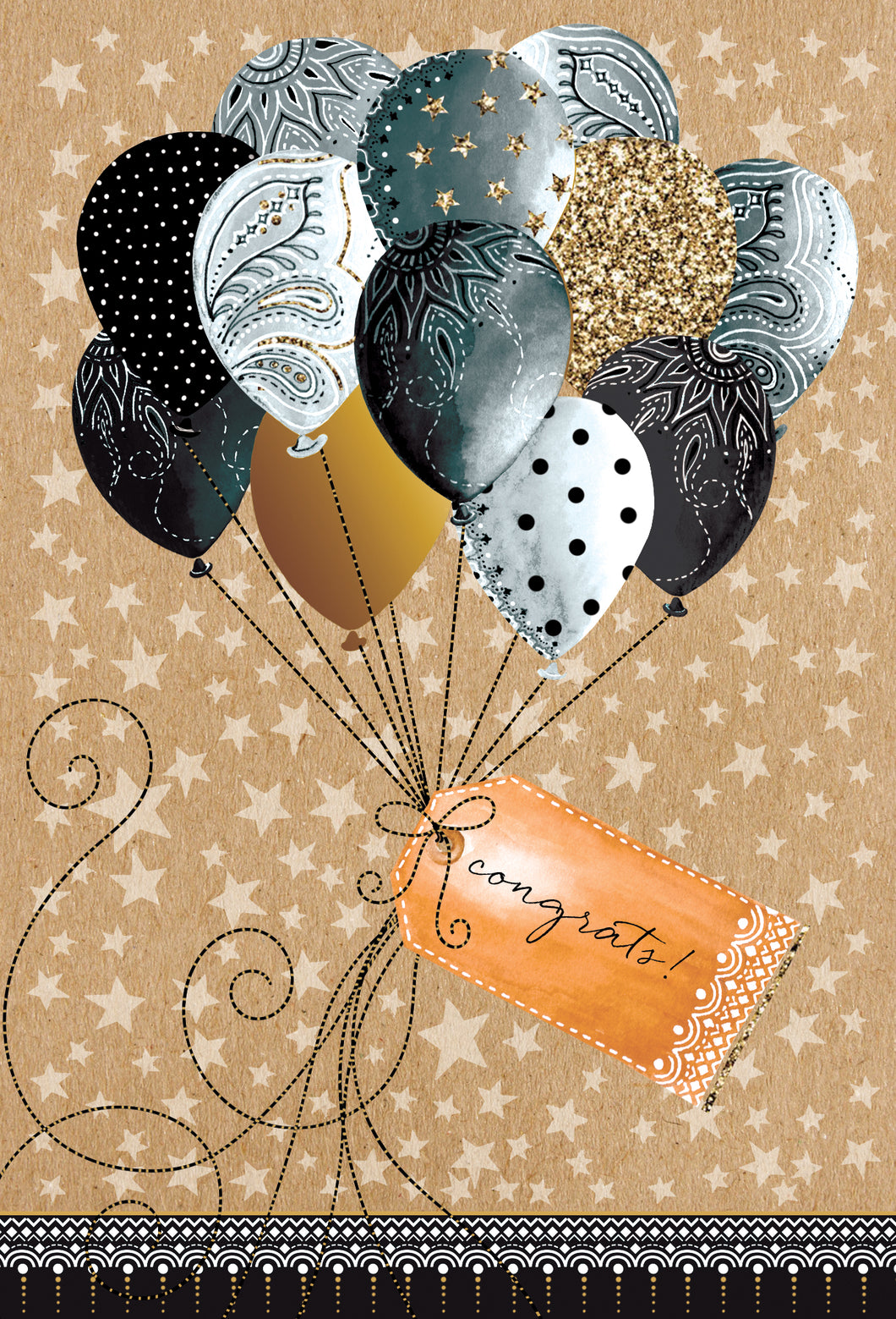 Retirement Card Balloons Two Twenty Two