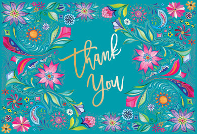 Thank You Card Flowers Two Twenty Two