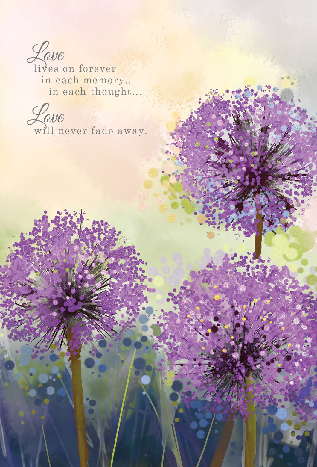 Sympathy Card Love lives forever in eahc