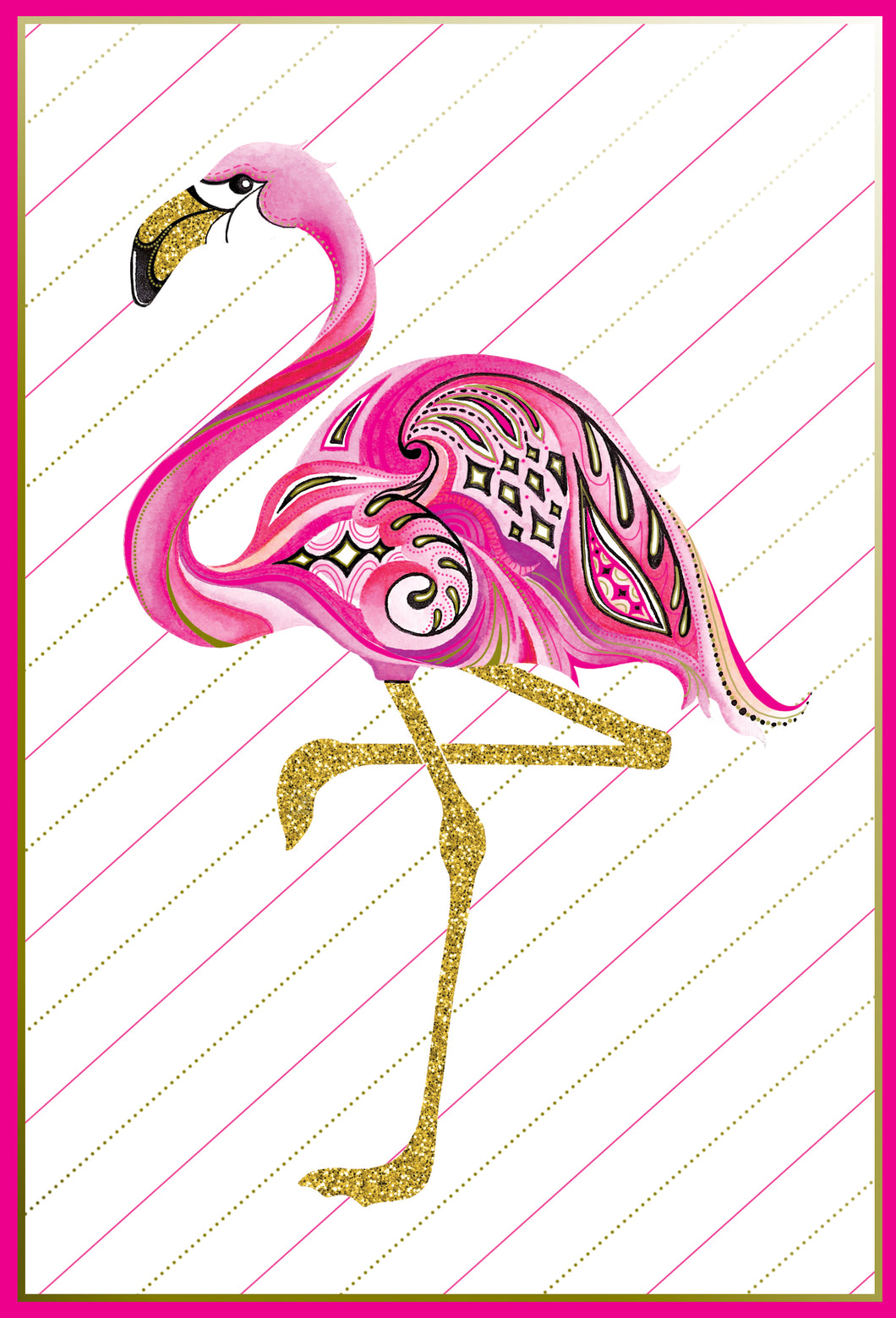 Birthday Card Flamingo Jane