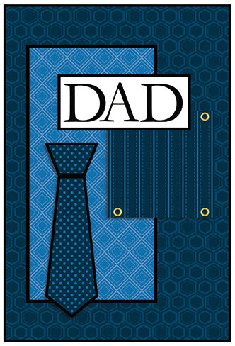 Birthday Father Card Tie