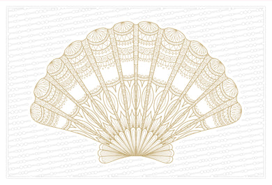 Blank Note Card Seashell