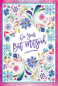 Bat Mitzvah Card Two Twenty Two