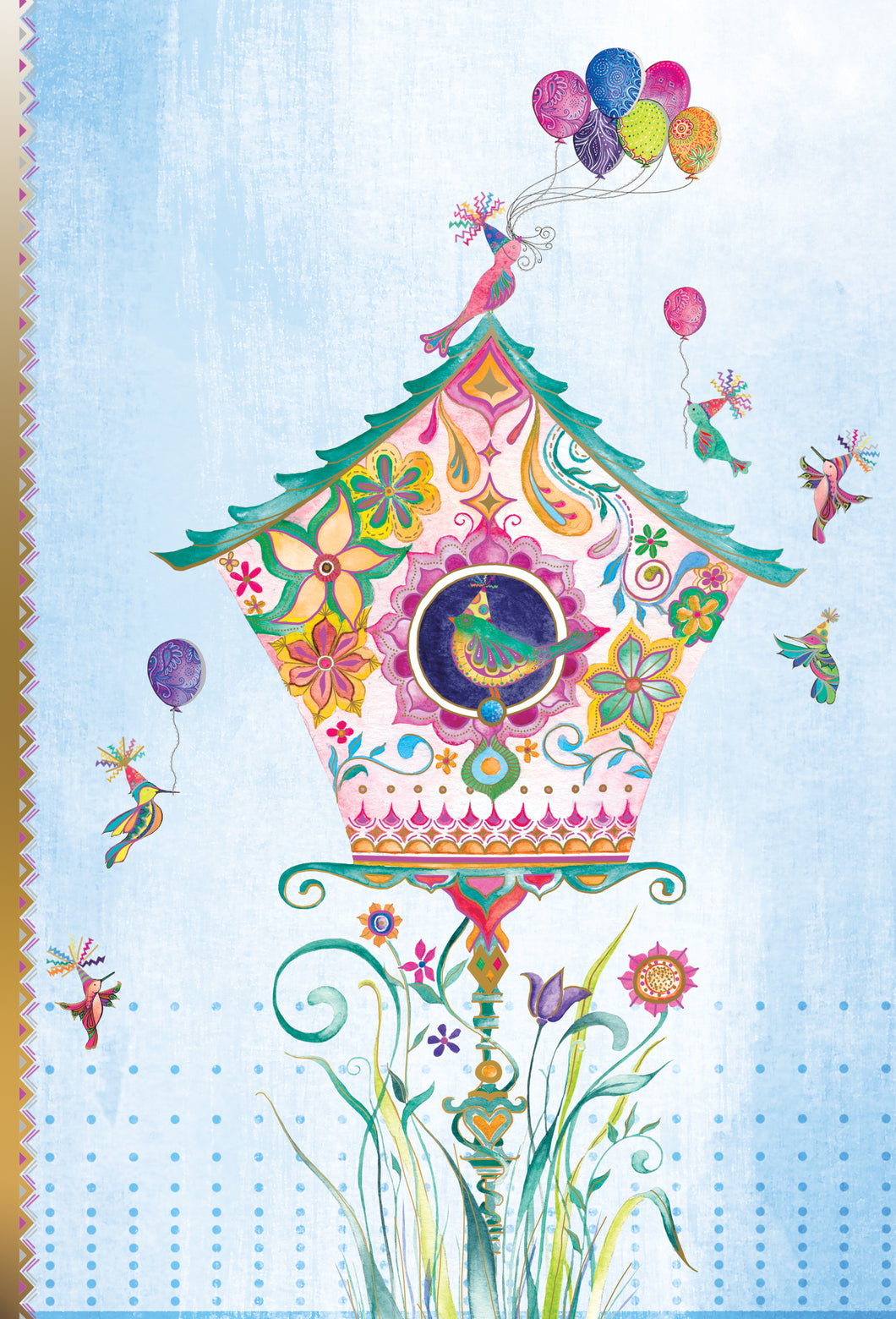 Birthday Card Birdhouse Two Twenty Two