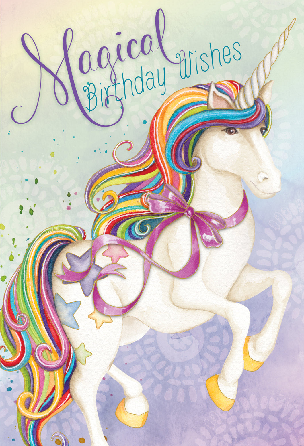 Birthday Card Unicorn Magical