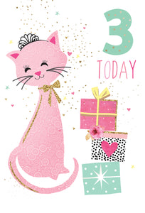 Birthday Card 3rd Cat Sara Miller
