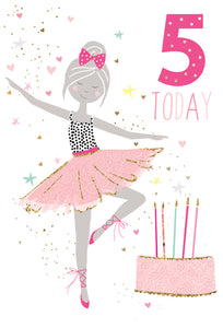Birthday Card 5th Ballerina Sara Miller