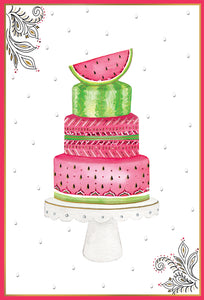 Birthday Card Watermelon Cake Jane