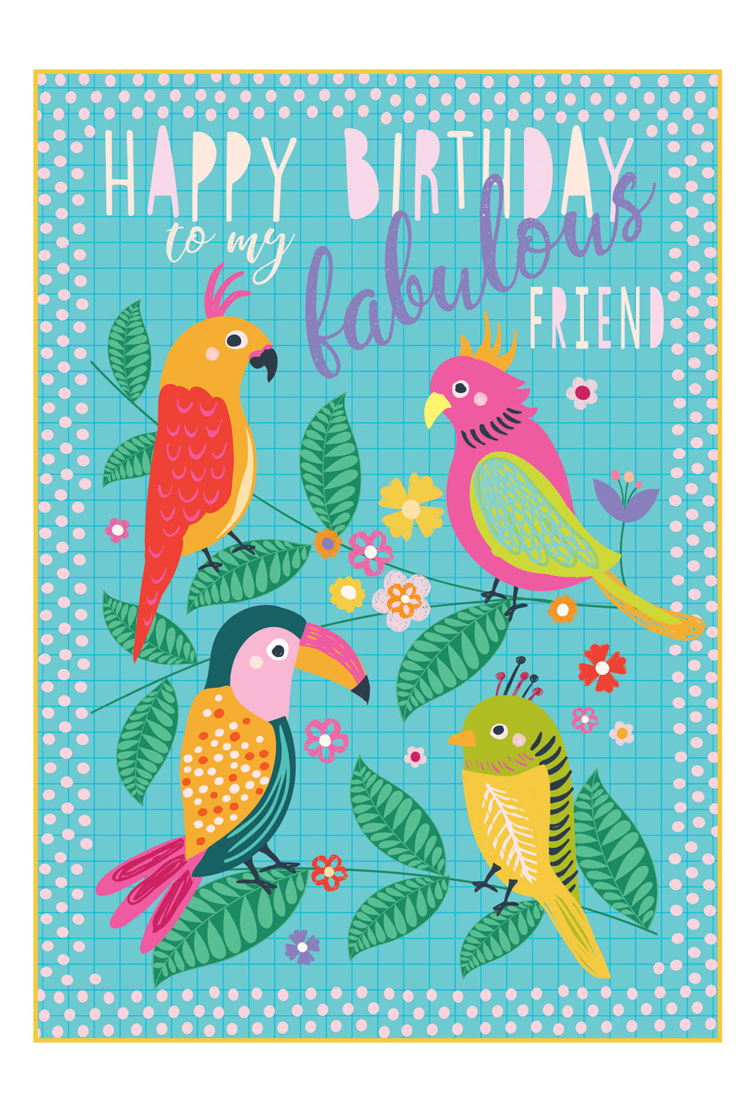 Birthday Card Parrots