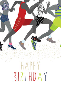 Birthday Card Running Sara Miller