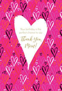 Birthday Mother Card Thank You Mom