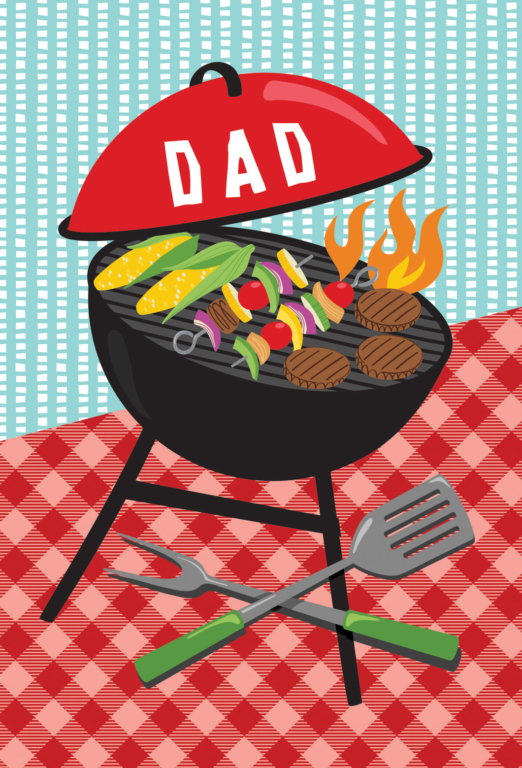 Birthday Father Card Grill