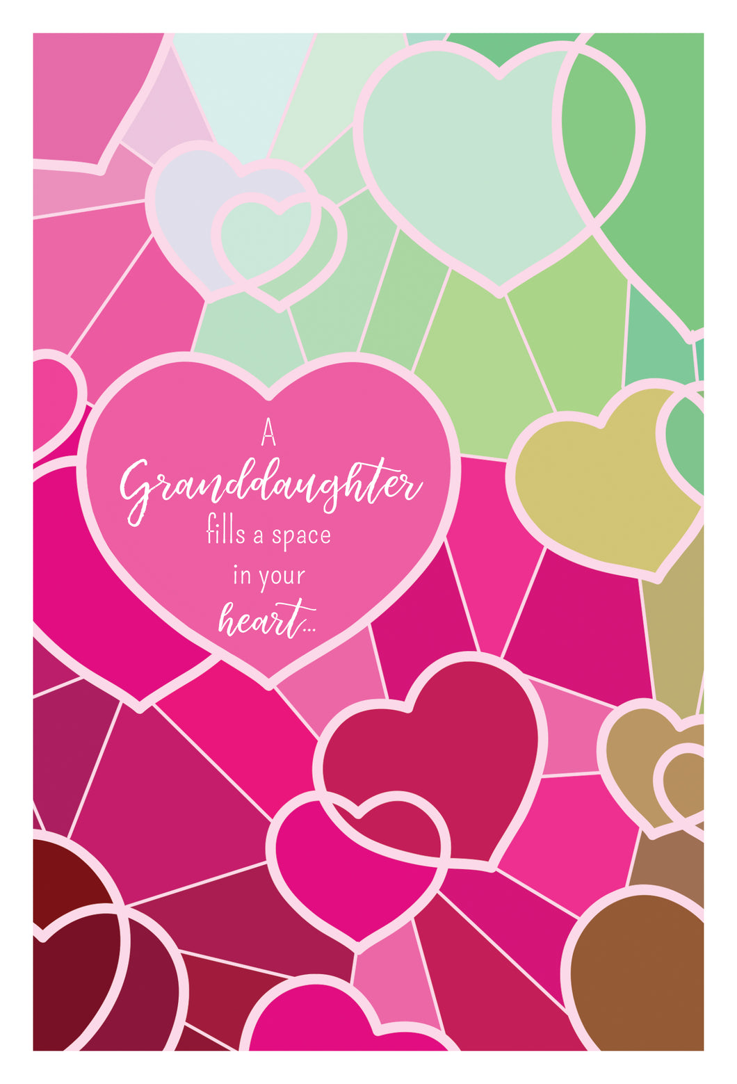 Birthday Granddaughter Card Hearts