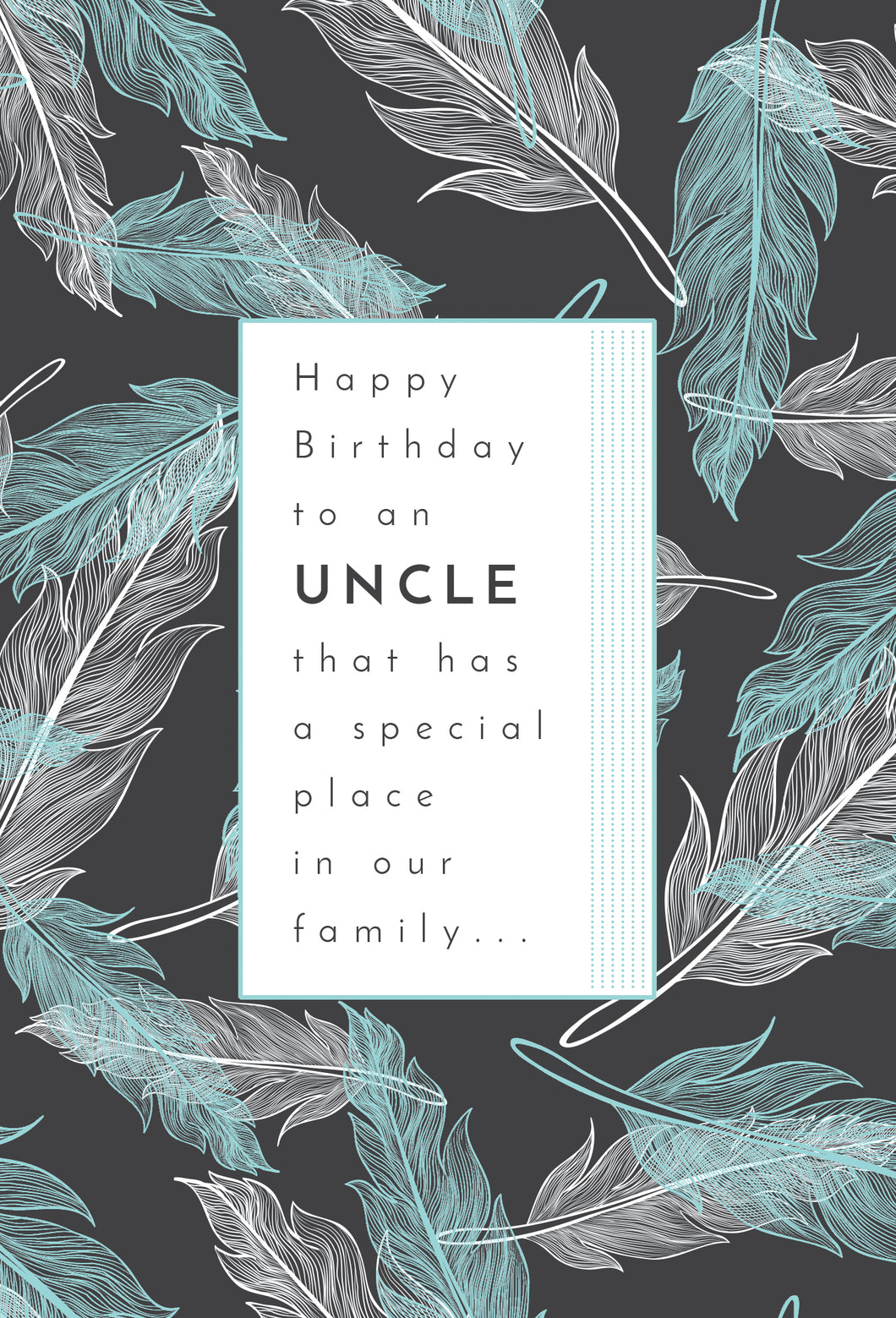 Birthday Uncle Card Special Place in Family