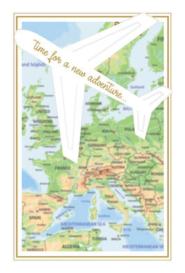 Retirement Card Map & Airplane