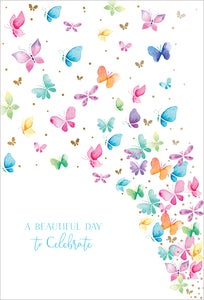 Birthday Card Butterflies Happy Buddha