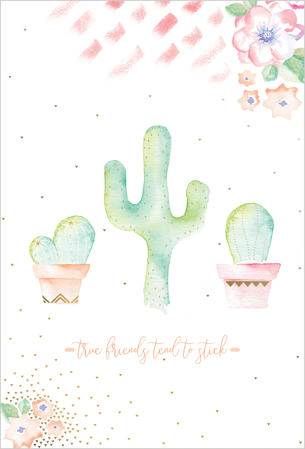 Birthday Card Friends Cactus Happy Buddha