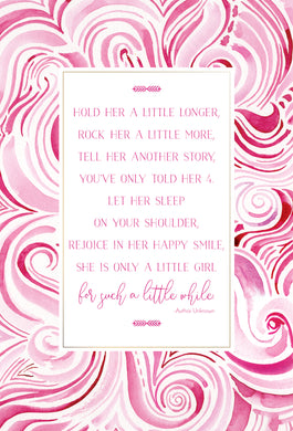 Baby Card Girl with Poem Hold Her a Little Longer Happy Buddha - Cardmore