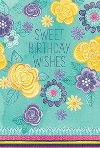 Birthday Card Sweet Birthday Wishes Patchwork