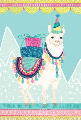 Birthday Card Llama Patchwork