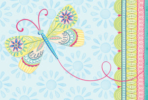 Get Well Card Dragonfly Patchwork