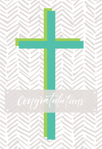 Communion Card with green cross