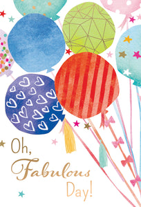 Birthday Card Balloons And Stars