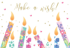 Birthday Card Make A Wish Candles