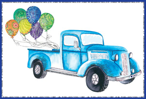 Birthday Father Card Pickup Truck Jane