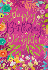 Birthday Daughter Card Floral Frame