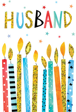 Birthday Husband Card Birthday Candles