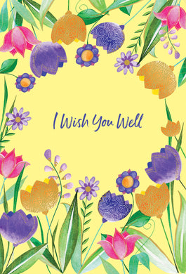 Get Well Card Tulip Frame Two Twenty Two