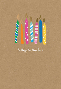 Birthday Card Happy You Were Born Kraft
