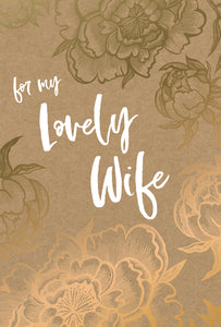 Birthday Wife Card Floral Flourish Kraft