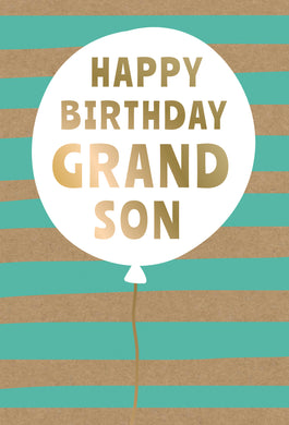 Birthday Grandson Card Birthday Balloon Kraft