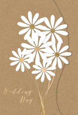 Wedding Card Simple Bouquet Kraft