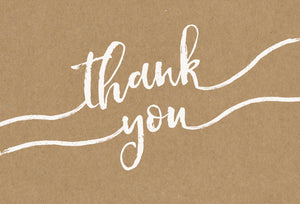 Thank You Card Script Kraft