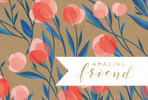 Friendship Card Garden Kraft
