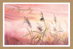 Sympathy Card Sunset Reeds Kraft
