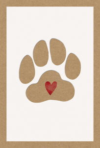Sympathy Card Loss Of Pet Paw Print