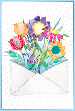 Birthday Card Envelope Of Flowers Jane