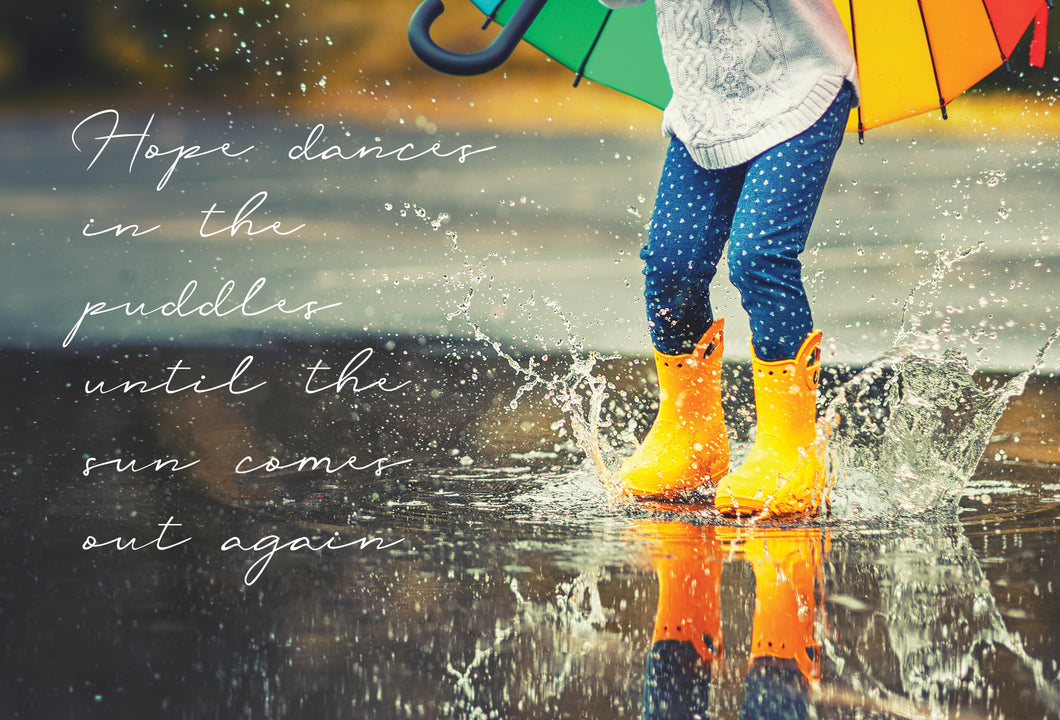 Friendship Card Jumping In Puddles Snapshot