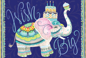 Birthday Card Elephant Patchwork