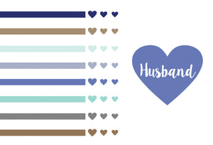 Husband Anniversary Card Hearts And Stripes