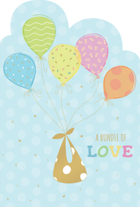 A bundle of love Baby Card